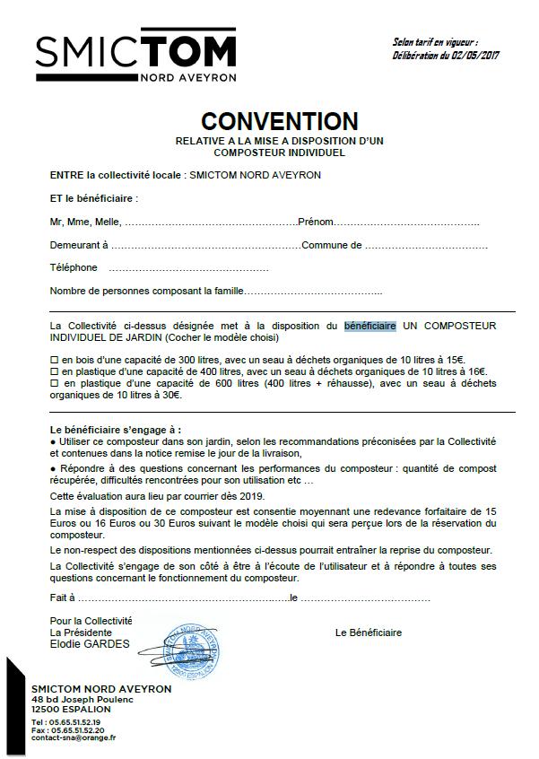 Affiche pour la convention pour composteur