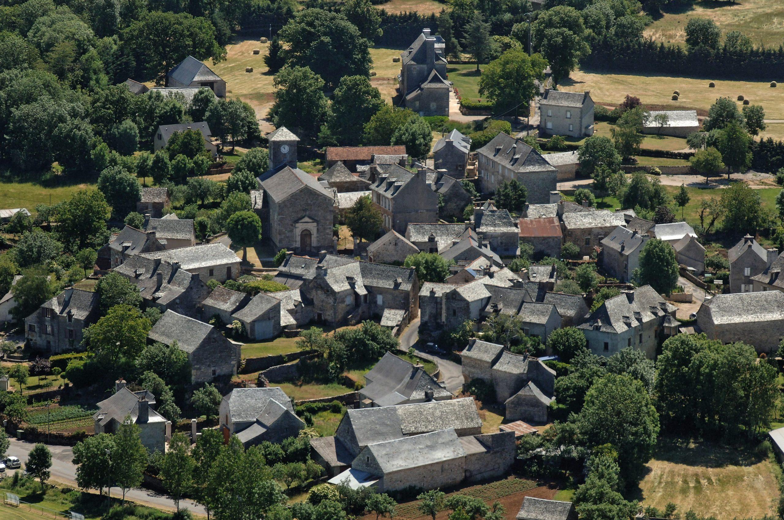 Village de Bezonnes, vue du ciel