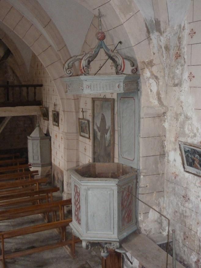 Chaire de l'église de Maymac