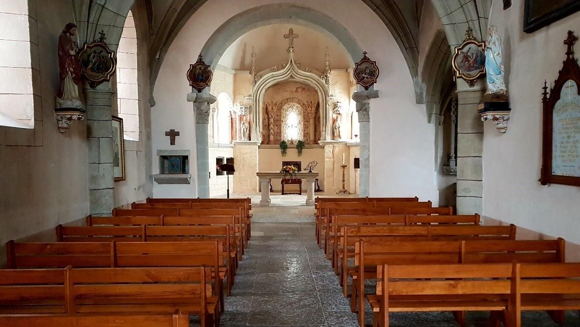 Intérieur de l'Eglise de Rodelle