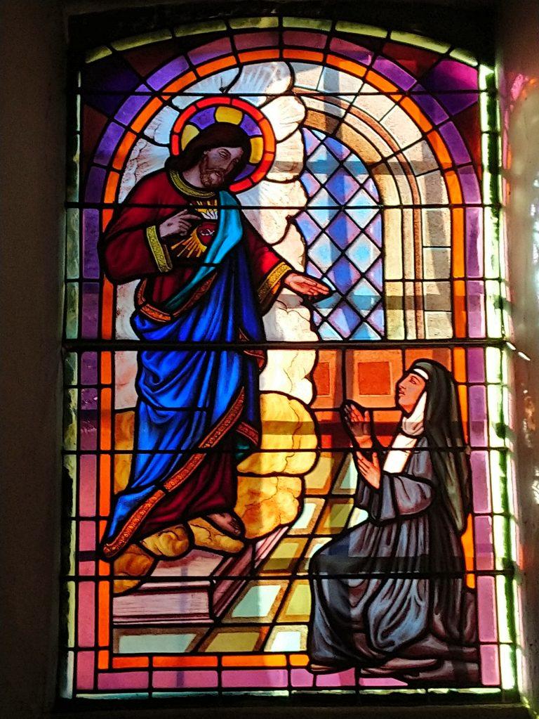 Vitrail à l'église de Saint-Julien de Rodelle